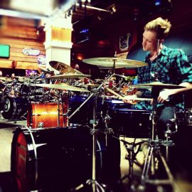 Philip on the drums.