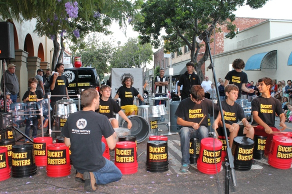 Performing at Farmers' Market, Downtown SLO